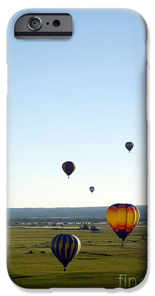 Hot Air Balloon Pyrography iPhone Cases - Hot Air Balloons iPhone Case by Shannon Scott