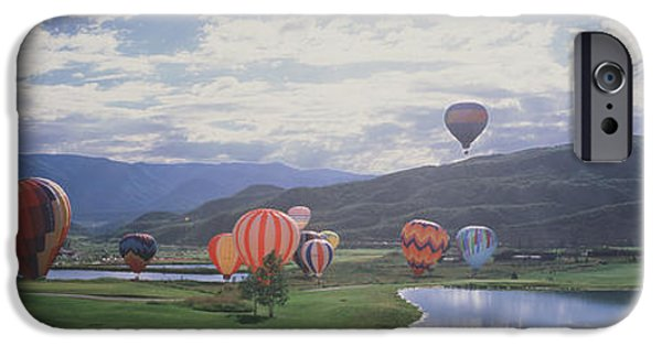 Hot Air Balloon iPhone Cases - Hot Air Balloons, Snowmass, Colorado iPhone Case by Panoramic Images