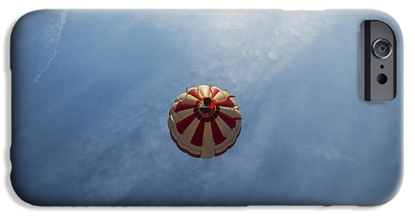 Hot Air Balloon iPhone Cases - Hot Air Space Balloon iPhone Case by David Haskett
