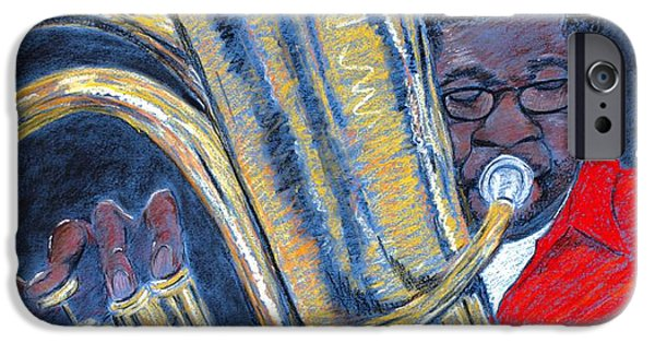 African-americans Pastels iPhone Cases - Hot and Heavy iPhone Case by Charlie Black