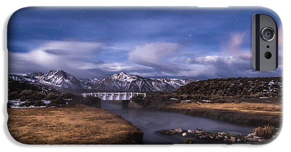Self Portrait Photographs iPhone Cases - Hot Creek Bridge iPhone Case by Cat Connor