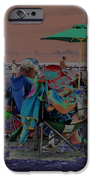 Hot Day at the Beach - Solarized iPhone Case by Suzanne Gaff