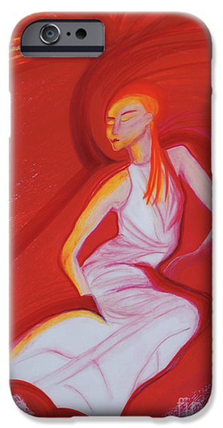 Jrr Pastels iPhone Cases - Hot Flash by jrr iPhone Case by First Star Art