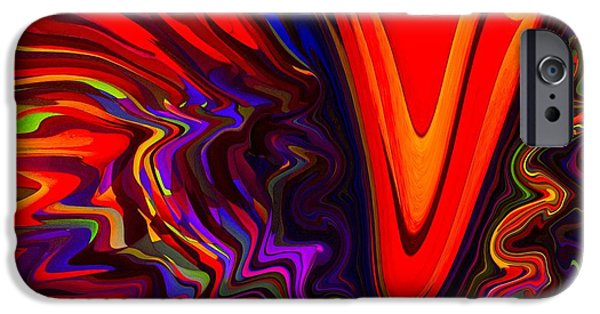 Abstract Digital Pastels iPhone Cases - Hot Kiss iPhone Case by Imani  Morales