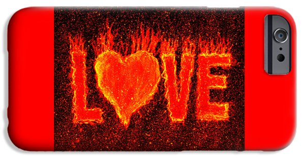 Secret Admirer iPhone Cases - Hot Love  iPhone Case by Bill Holkham