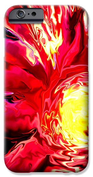 Concept Art iPhone Cases - Flaming Mum iPhone Case by Gardening Perfection