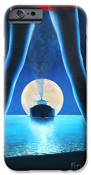 At Arrivals iPhone Cases - Hot Night iPhone Case by Miki Karni