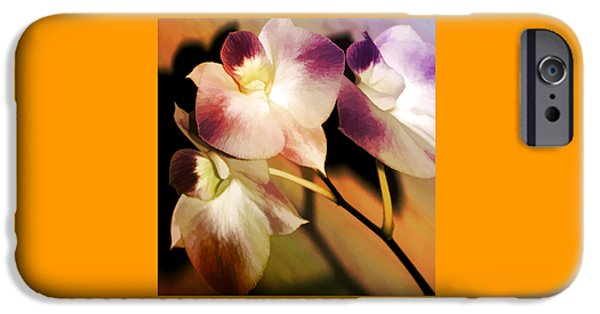 Florals iPhone Cases - Hot Orchid Nights iPhone Case by Holly Kempe