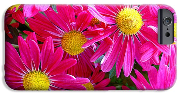 Flower Gardens Photographs iPhone Cases - Hot Pink iPhone Case by Julie Palencia