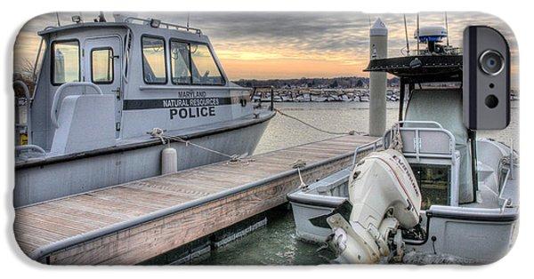 Police Patrol Law Enforcement iPhone Cases - Hot Pursuit  iPhone Case by JC Findley