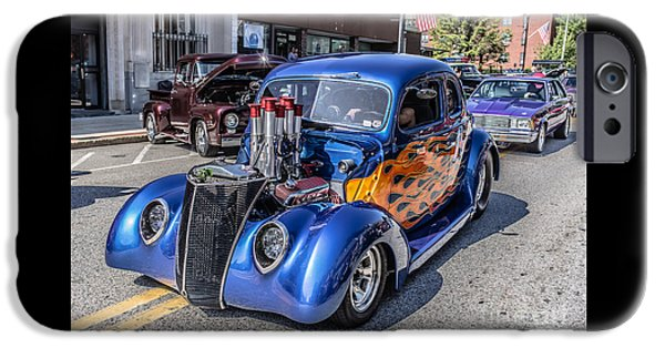 Cars iPhone Cases - Hot Rod Car iPhone Case by Edward Fielding