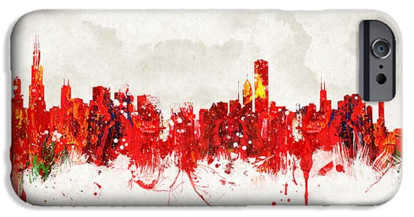 The Church Mixed Media iPhone Cases - Hot summer day in Chicago iPhone Case by Aged Pixel