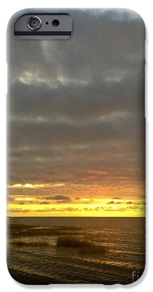 Storm Clouds Cape Cod iPhone Cases - Hot Sun Dropping iPhone Case by Lauren Kunkler