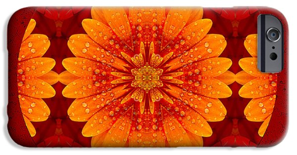 Macro Mixed Media iPhone Cases - Hot Tropical Zen iPhone Case by Georgiana Romanovna