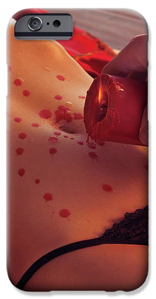 Hot Wax Foreplay iPhone Case by Oleksiy Maksymenko
