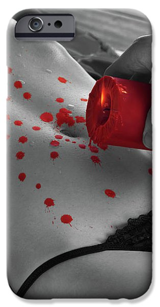 Hot Wax Foreplay with red Candle iPhone Case by Oleksiy Maksymenko