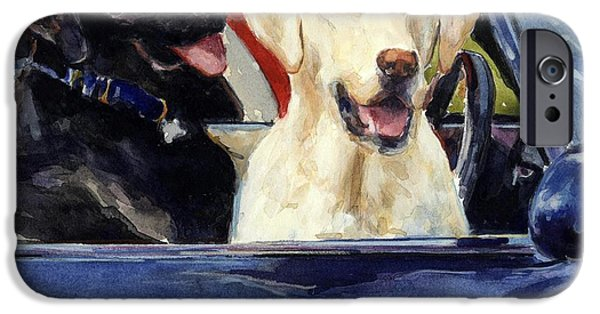 Black Dog iPhone Cases - Hot Wheels iPhone Case by Molly Poole