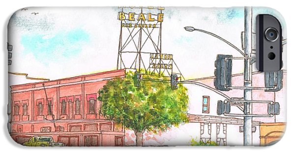 Tree Art Print iPhone Cases - Hotel Beale in Route 66 Andy Devine Ave - Kingman - Arizona iPhone Case by Carlos G Groppa