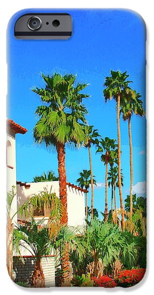 Tile Roofs iPhone Cases - HOTEL CALIFORNIA Palm Springs iPhone Case by William Dey