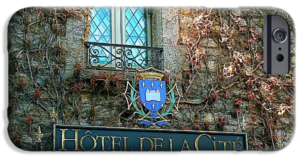 Cathar Country iPhone Cases - Hotel de la Cite iPhone Case by France  Art