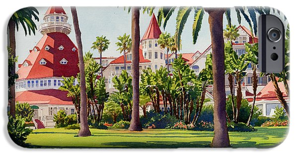 Southern California iPhone Cases - Hotel Del Coronado iPhone Case by Mary Helmreich
