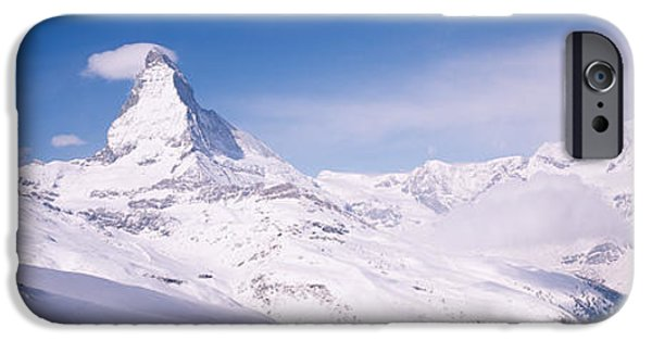 Mountain iPhone Cases - Hotel On A Polar Landscape, Matterhorn iPhone Case by Panoramic Images
