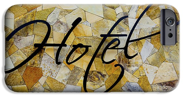 Built Structure iPhone Cases - Hotel Sign iPhone Case by Aged Pixel