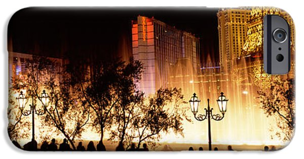 Imitation iPhone Cases - Hotels In A City Lit Up At Night, The iPhone Case by Panoramic Images