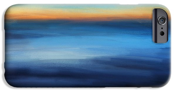 Abstract Seascape iPhone Cases - Hour Of Dreams iPhone Case by Lourry Legarde