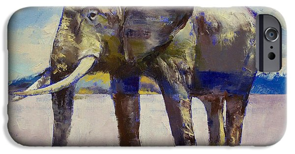 Michael Paintings iPhone Cases - Hourglass iPhone Case by Michael Creese