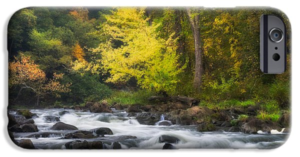 Fall Scenes iPhone Cases - Housatonic River iPhone Case by Bill  Wakeley