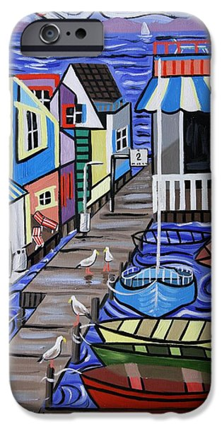 House Digital Art iPhone Cases - House Boats For Sale iPhone Case by Anthony Falbo
