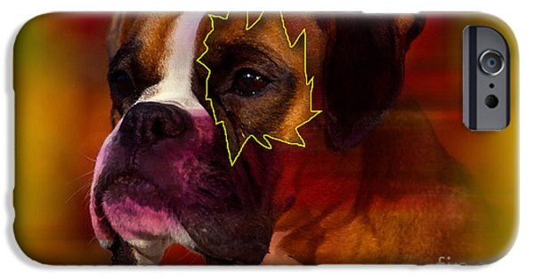Dogs iPhone Cases - House Broken Boxer Painting iPhone Case by Marvin Blaine