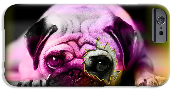 Dogs iPhone Cases - House Broken Pug Puppy iPhone Case by Marvin Blaine