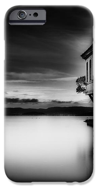 House by the Sea BW iPhone Case by Erik Brede