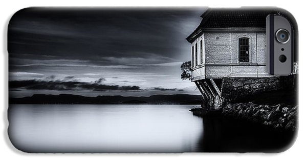 Beach Landscape iPhone Cases - House By The Sea iPhone Case by Erik Brede