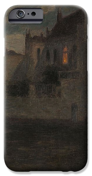 House iPhone Cases - House By The Water Oil On Canvas iPhone Case by Henri Duhem