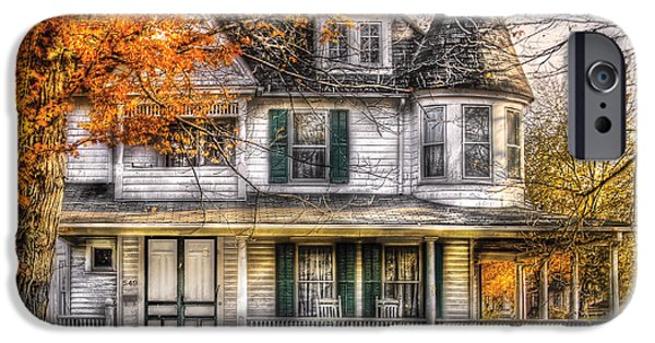 White Frame House iPhone Cases - House - Classic Victorian iPhone Case by Mike Savad
