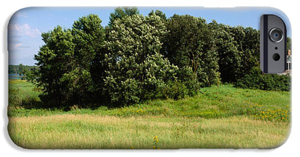Built Structure iPhone Cases - House In A Field, Otter Tail County iPhone Case by Panoramic Images