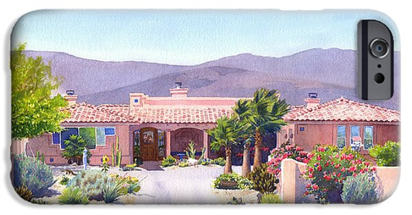 Runner iPhone Cases - House in Borrego Springs iPhone Case by Mary Helmreich