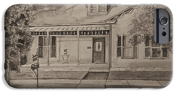 Franklin Drawings iPhone Cases - House in Franklin Tennessee iPhone Case by Arthur Witulski