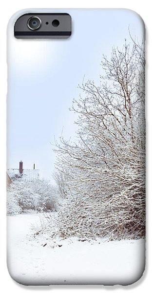 House iPhone Cases - House In snow iPhone Case by Amanda And Christopher Elwell