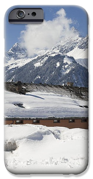 House in the alps in winter iPhone Case by Matthias Hauser