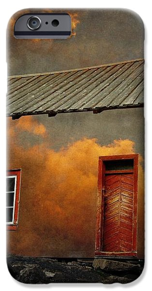 House in the clouds iPhone Case by Sonya Kanelstrand