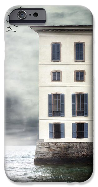 Eerie iPhone Cases - House In The Sea iPhone Case by Joana Kruse