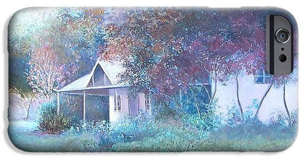 White House iPhone Cases - House in the Woods iPhone Case by Jan Matson