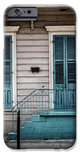 Balcony Digital Art iPhone Cases - House of Blue Doors iPhone Case by Perry Webster