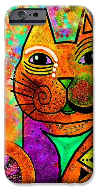 Imaginative iPhone Cases - House of Cats series - Blinks iPhone Case by Moon Stumpp