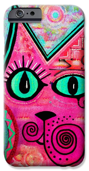 Moon iPhone Cases - House of Cats series - Catty iPhone Case by Moon Stumpp