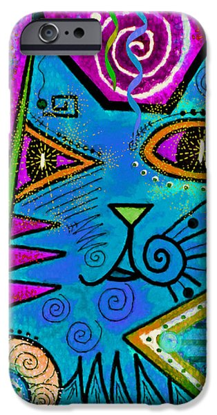 Decorative Mixed Media iPhone Cases - House of Cats series - Dots iPhone Case by Moon Stumpp